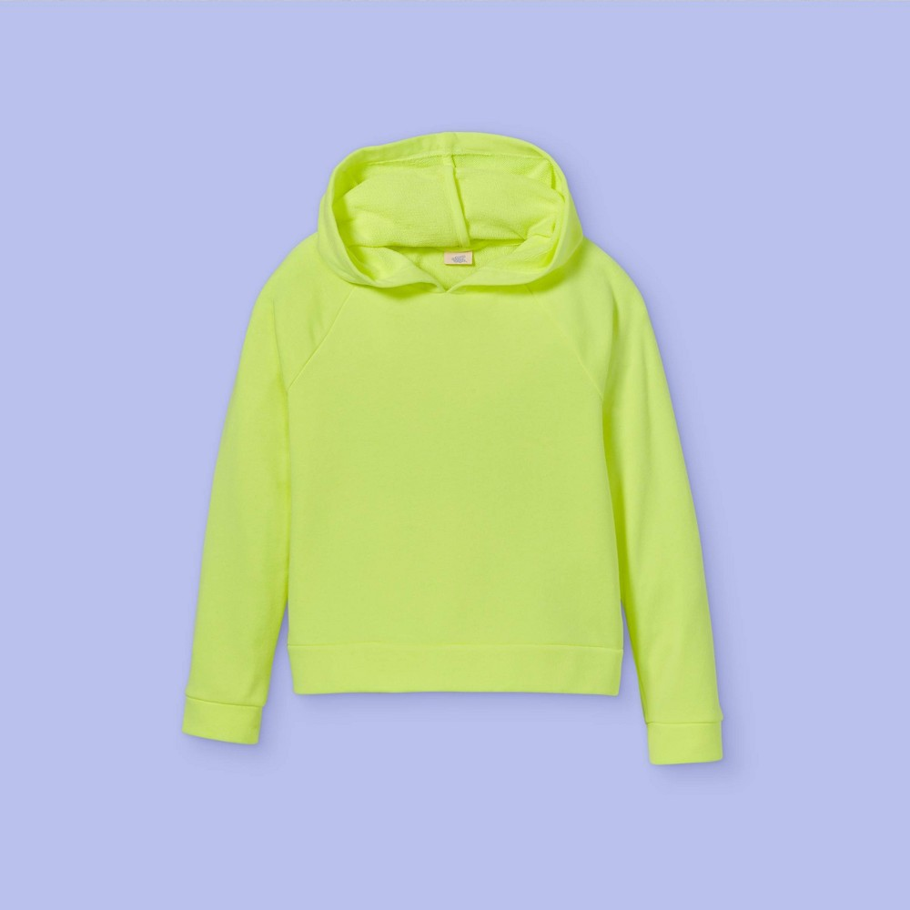 Girls 39 French Terry Hoodie More Than Magic 8482 Neon Lime M