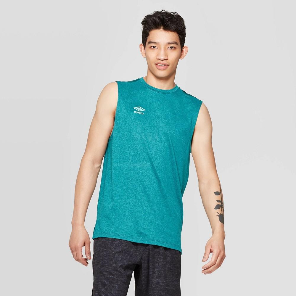Best Umbro Men Sleeveless T Shirt Blue Grass M