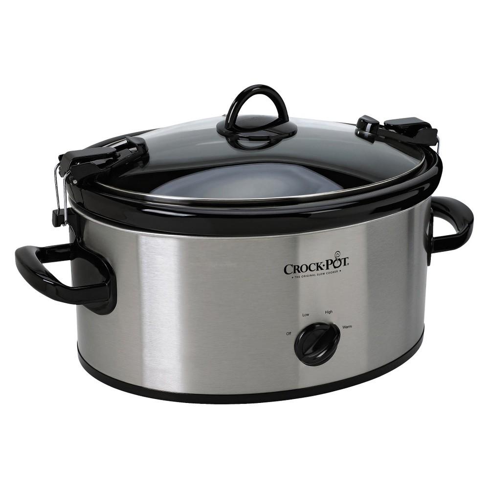 Crock-Pot 6 Qt. Cook & Carry Slow Cooker – Silver SCCPVL600-S, Light Silver 13985509