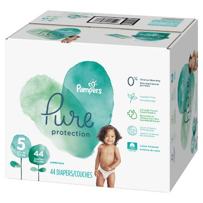 Pampers Pure Protection Diapers Super Pack - Size 5 (44ct)