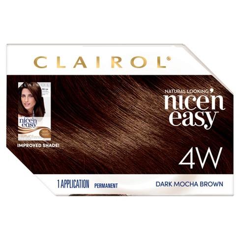 Nice N Easy Clairol Permanent Hair Color 4w Dark Mocha Brown 1 Kit Target