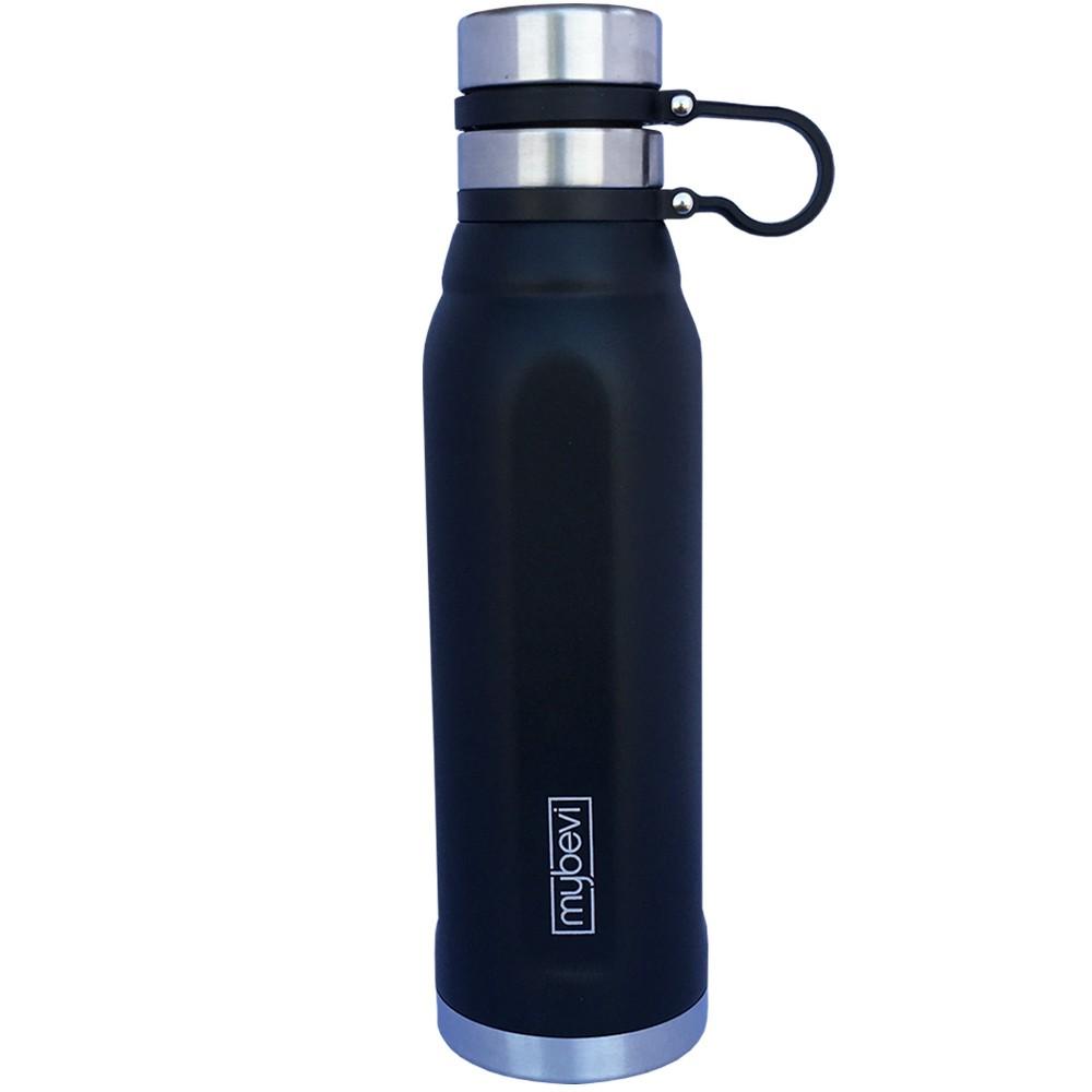 Image of MyBevi 25oz Quatro Sport Water Bottle with Spill Proof Lid Black