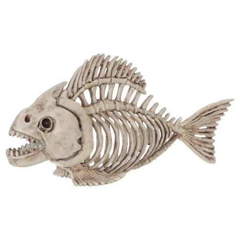 "Halloween 5"" Skeleton Fish - image 1 of 1"