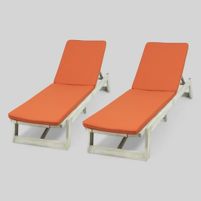 2pk Maki Acacia Wood Patio Chaise Lounge - Christopher Knight Home