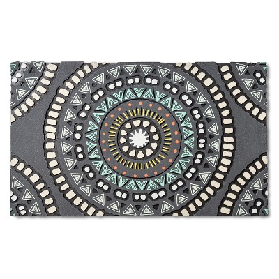 Medallion Rubber Doormat 18 x30  Multicolored - Room Essentials™