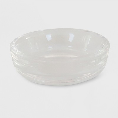"2.5"" x .79"" Tealight Glass Plate Candle Holder Clear - Made By Design™"