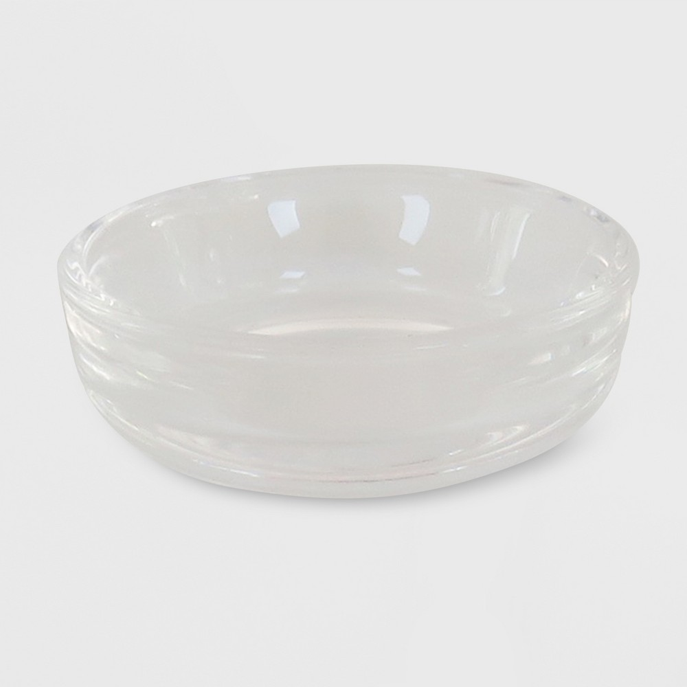 """Image of """"2.5"""""""" x .79"""""""" Tealight Glass Plate Candle Holder Clear - Made By Design"""""""