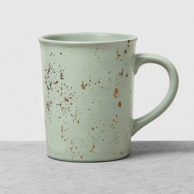 Stoneware Large Mug Green Speckled - Hearth & Hand™ with Magnolia