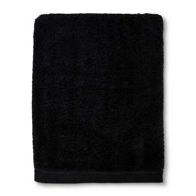 Solid Bath Towel Black - Room Essentials™