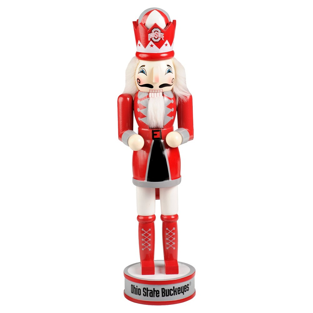 NCAA Decorative Holiday Nutcracker Forever Collectibles Ohio State Buckeyes