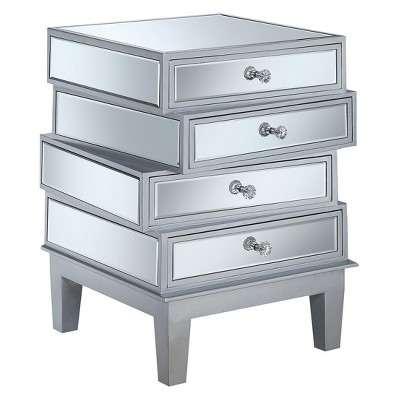 Gold Coast J Daniels End Table Silver/Mirror - Breighton Home