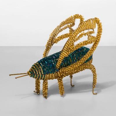 6  x 3  Decorative Beaded Cricket Bug Figure Blue/Yellow - Opalhouse™