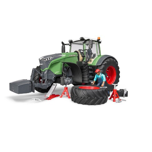 Bruder Toys Fendt 1050 Vario with Mechanic and Garage Equipment - 1/16 Scale Realistic, Functional Toy Agriculture Vehicle - image 1 of 3