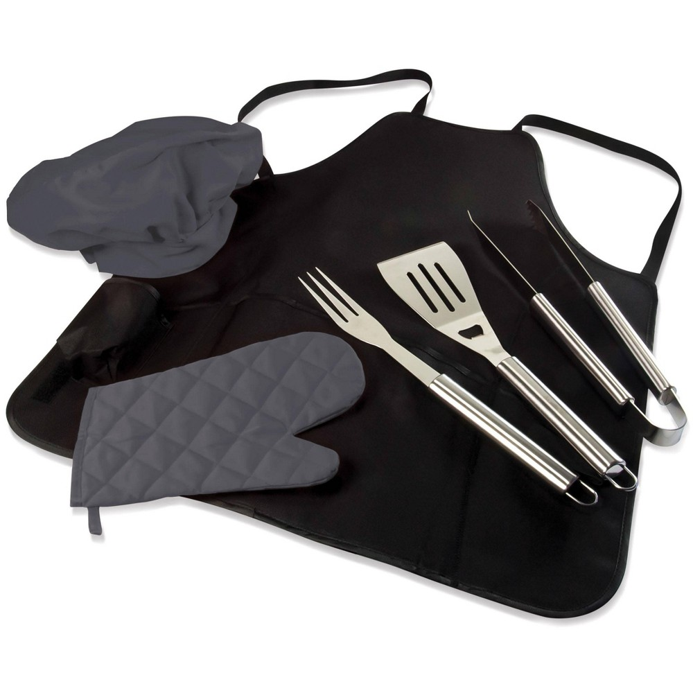 Image of Picnic Time BBQ Apron Tote with Tools, Mitt and Chef's Hat