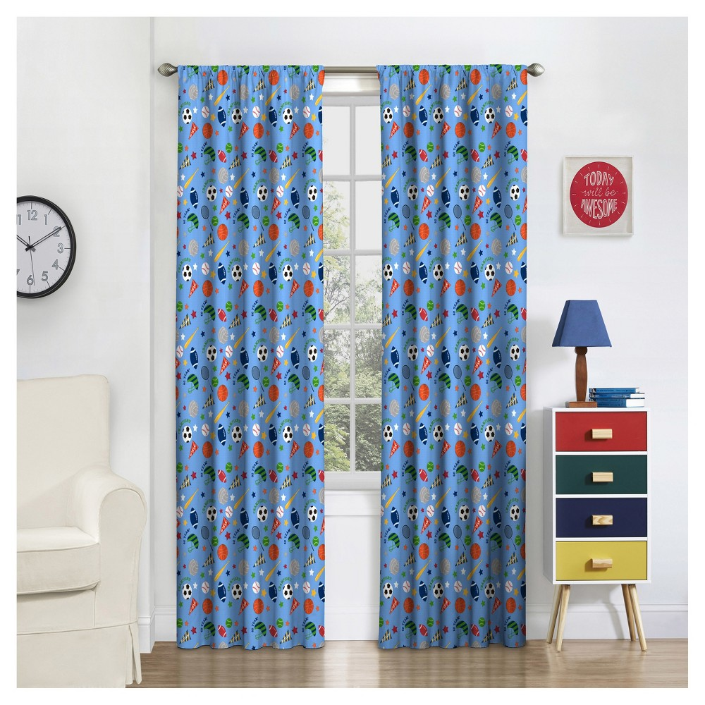 """Image of """"Field Day Thermaback Blackout Curtain (84""""""""x42"""""""")- Eclipse MyScene, Multicolored"""""""