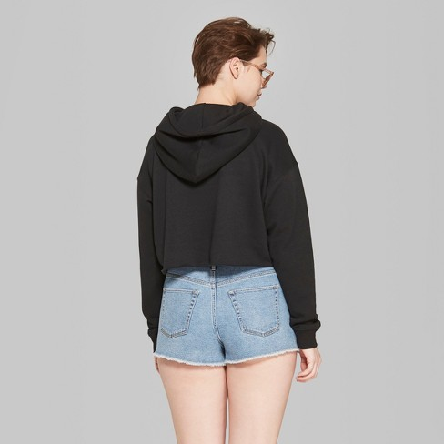 a4723052 Women's Cropped Hoodie - Wild Fable™ Black. Shop all Wild Fable