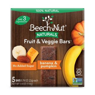 Beech-Nut Fruit & Veggie Bars Banana & Pumpkin - 5ct