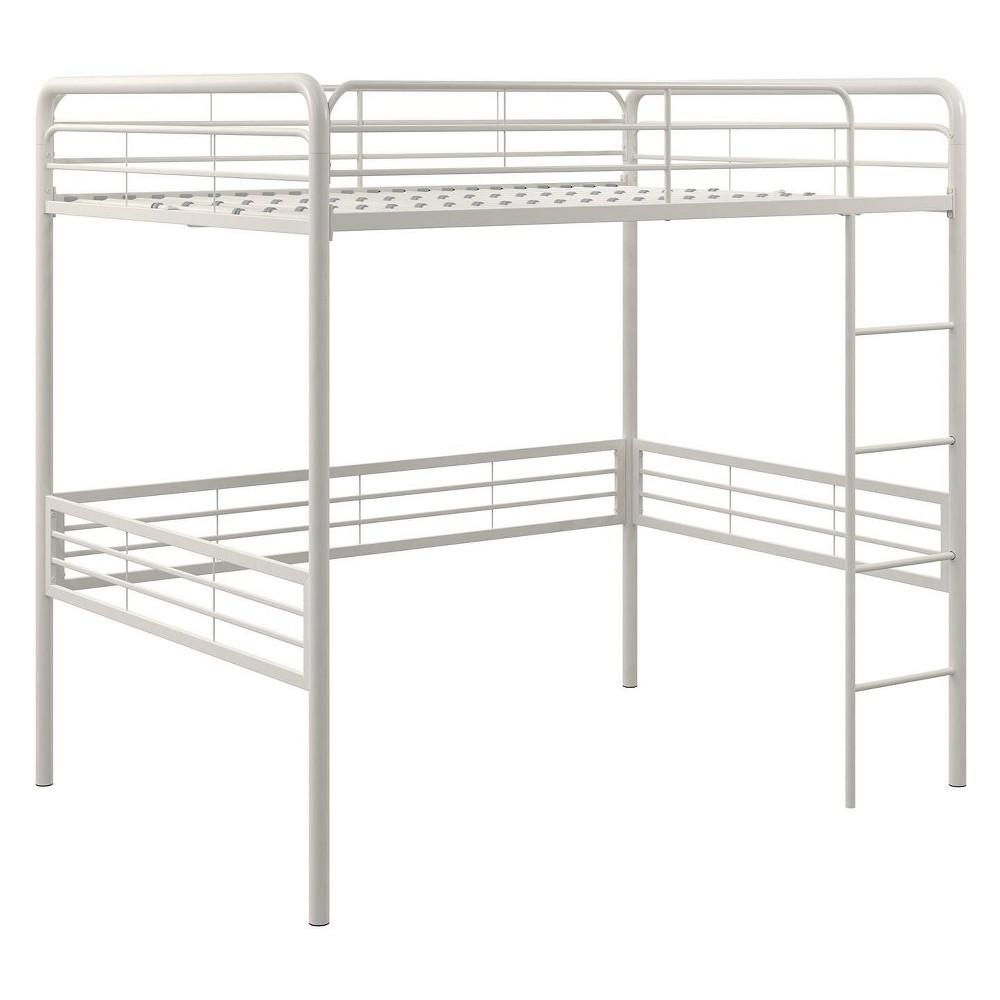 Full Metal Loft Bed White - Room & Joy