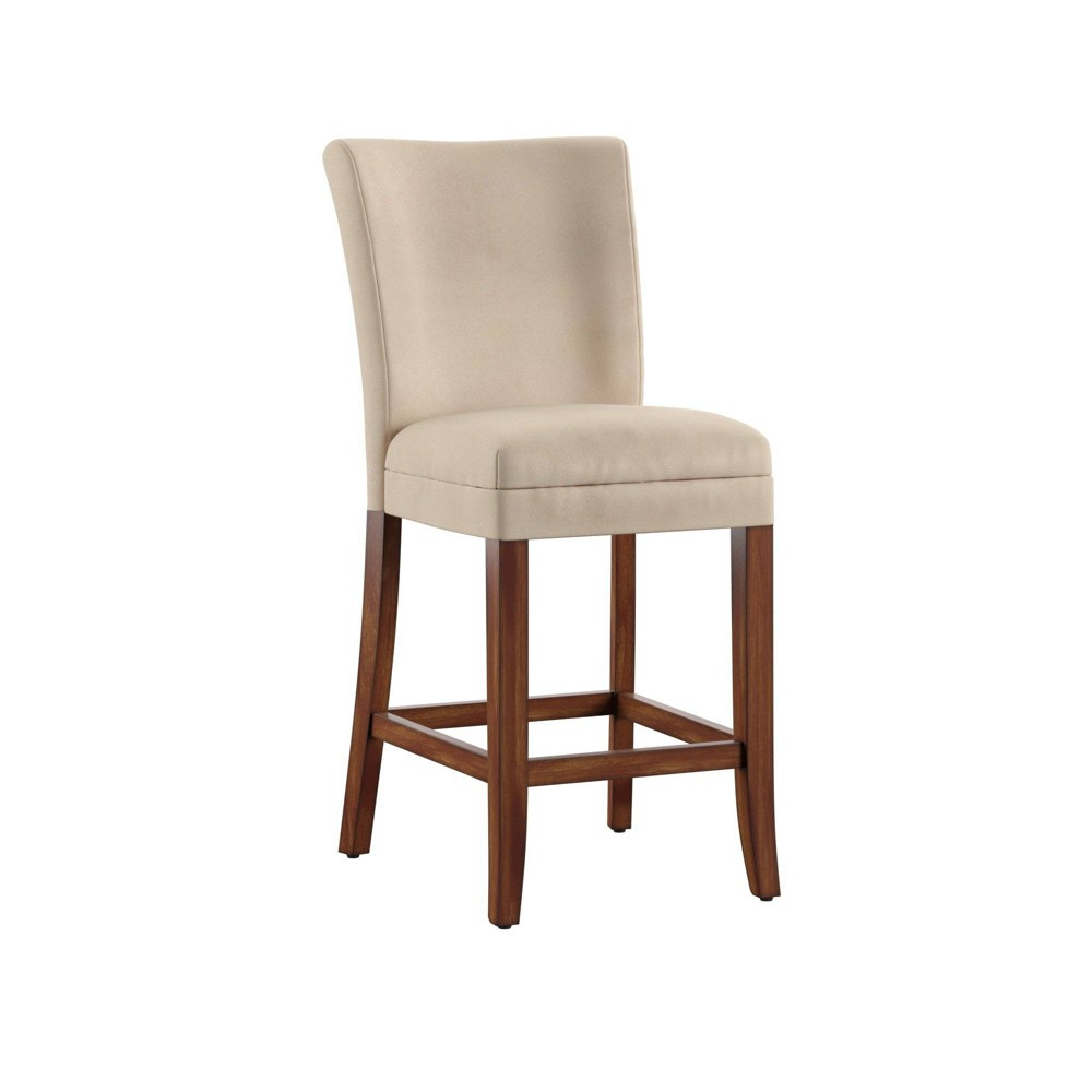 24 Set of 2 Quinby Microfiber Counter Stool Peat Brown - Inspire Q