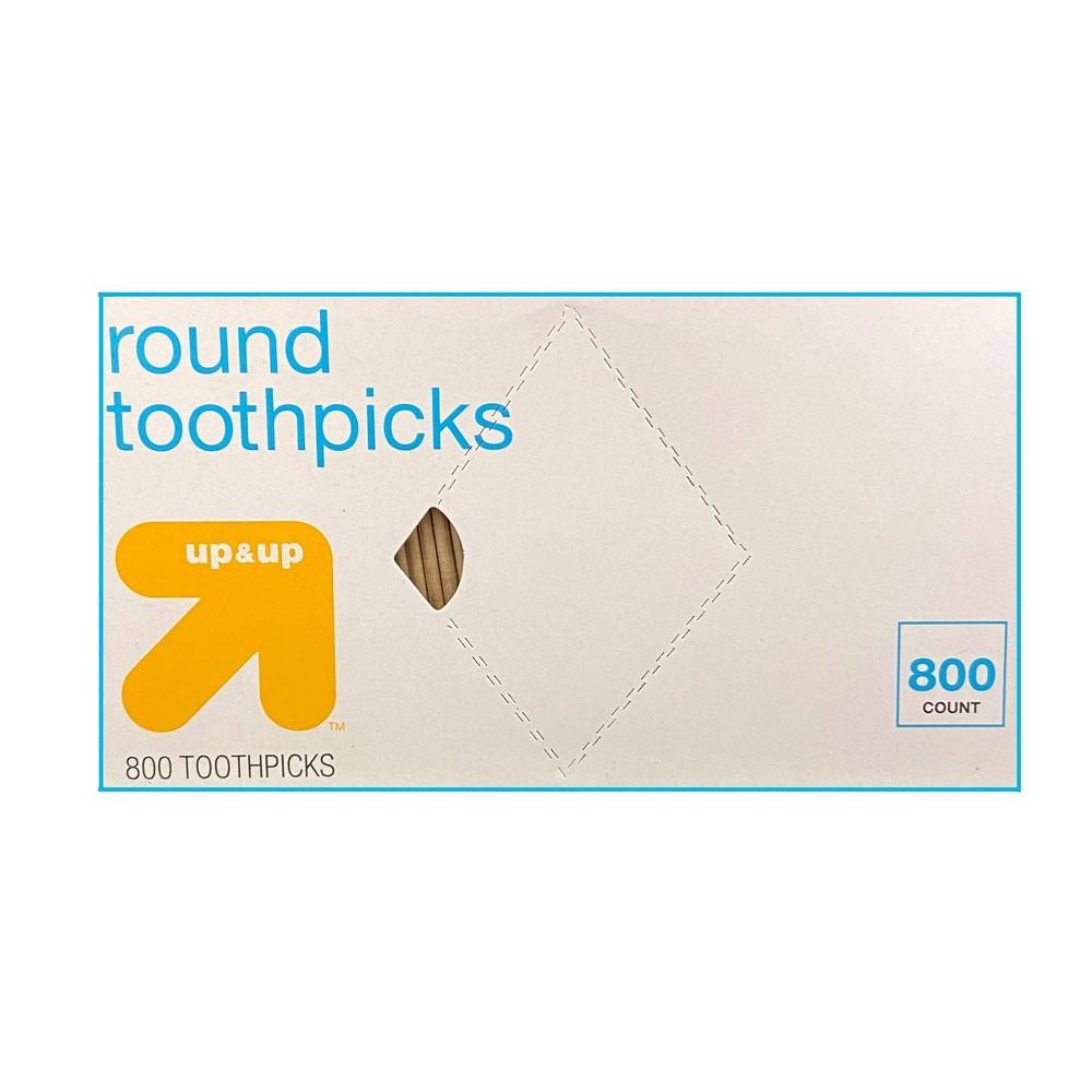 Round Toothpicks 800ct Up 38 Up 8482