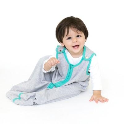 baby deedee Swaddle Wrap - Heather Gray Teal S