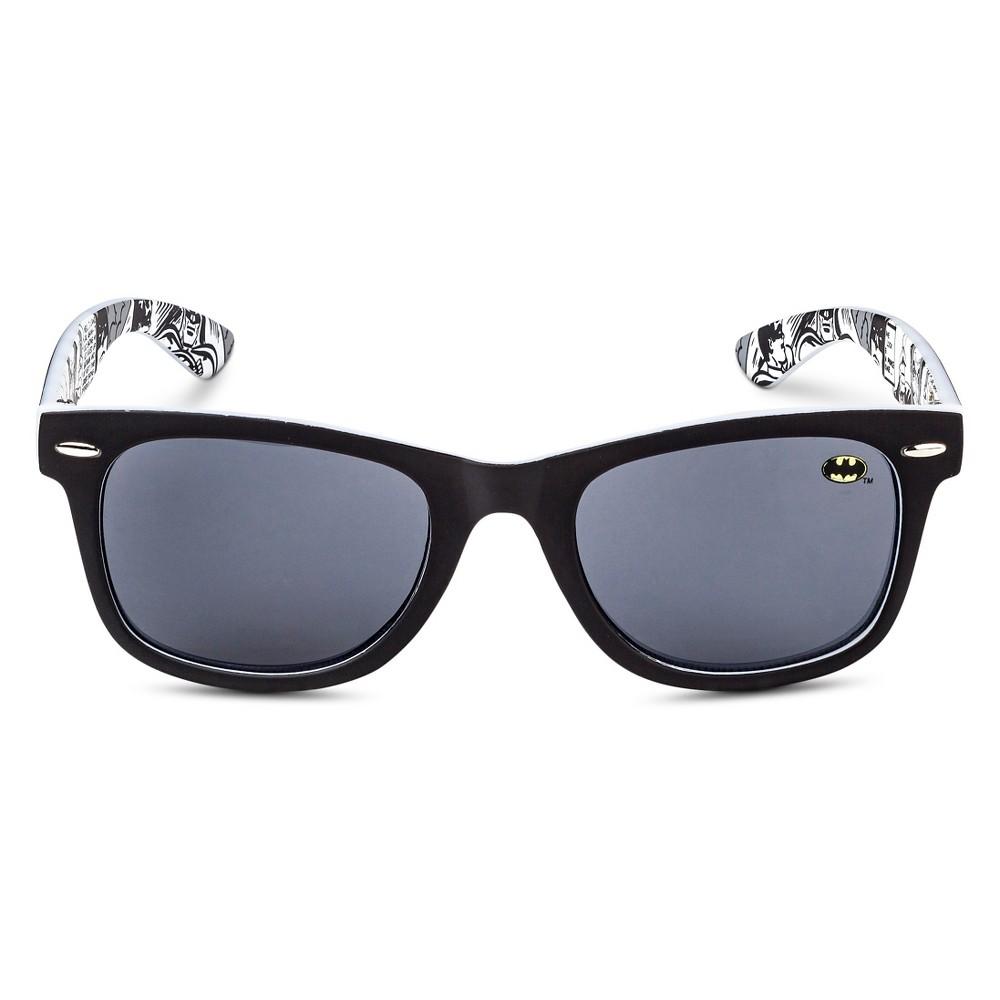 DC Comics Batman Boys' Oval Sunglasses - Black One Size