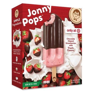 JonnyPops Strawberry Chocolate & Cream Frozen Fruit Bars - 4pk/8.25oz
