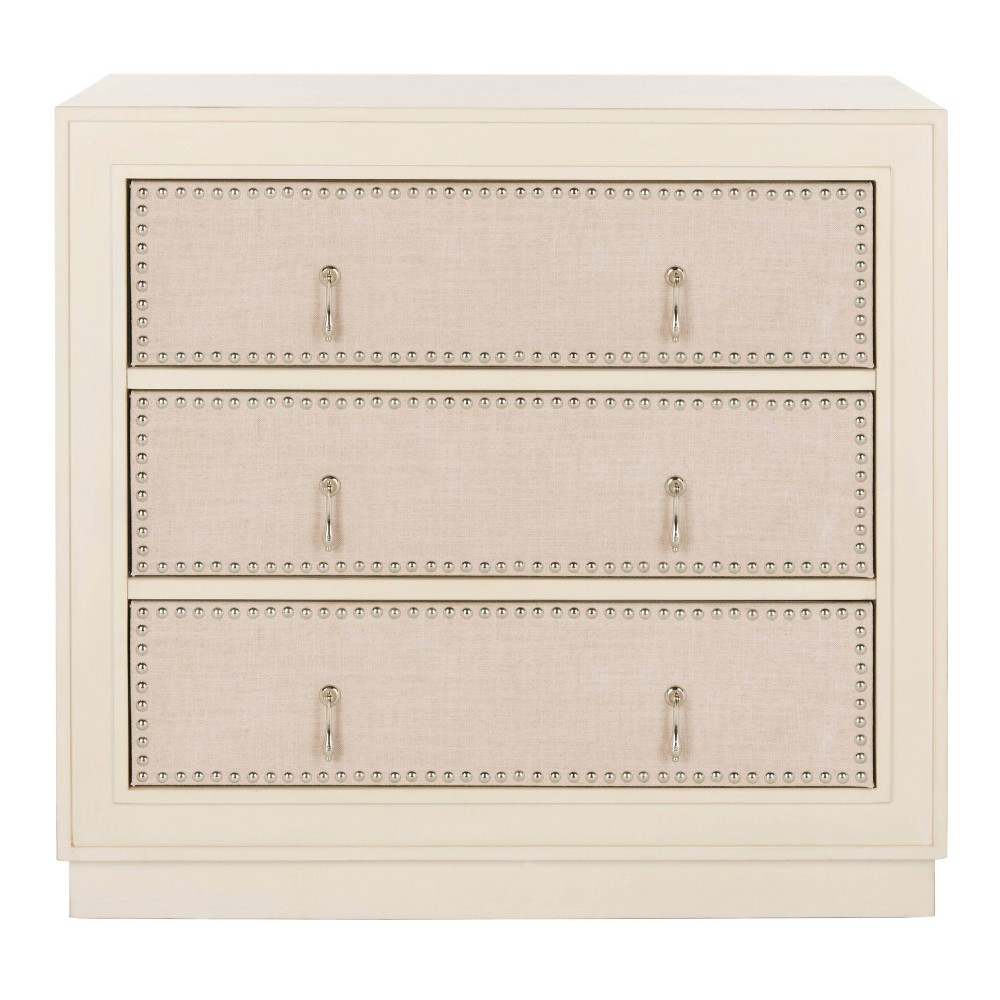 Laputa 3 Drawer Chest Antique Beige - Safavieh