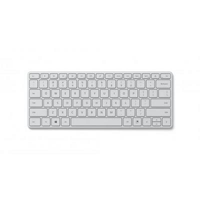 Microsoft Designer Compact Keyboard Glacier - Bluetooth 5.0 Connectivity - 2.40 GHz Operating Frequency - Dedicated Emoji Key