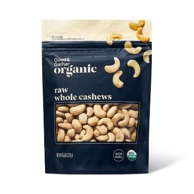 Organic Raw Whole Cashews - 8oz - Good & Gather™
