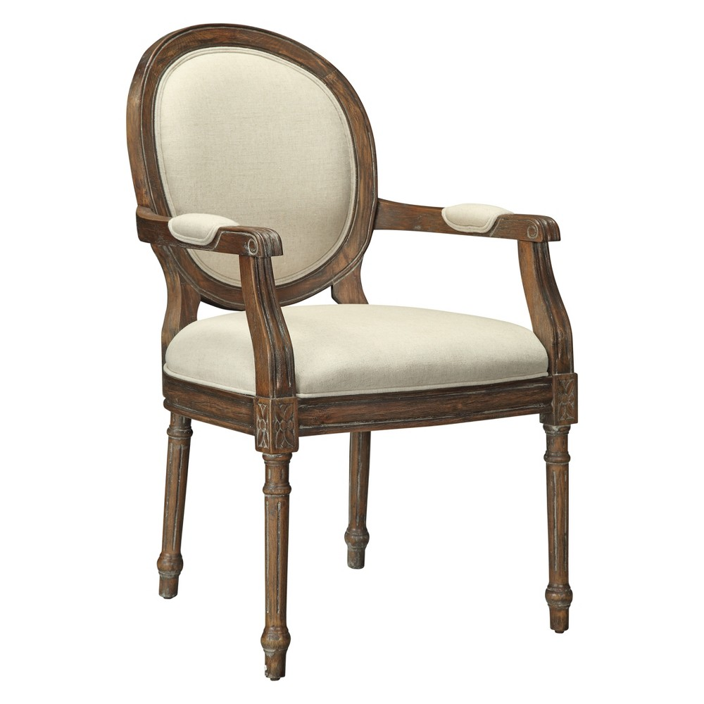 Freeman Upholstered Accent Chair Mid Brown - Treasure Trove