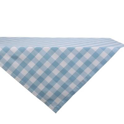 "40"" Cotton Buffalo Check Table Topper Blue - Design Imports"