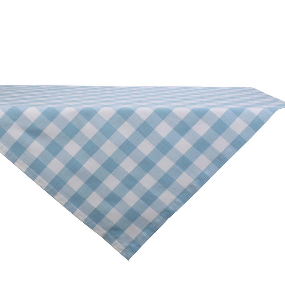 40 34 Cotton Buffalo Check Table Topper Blue Design Imports