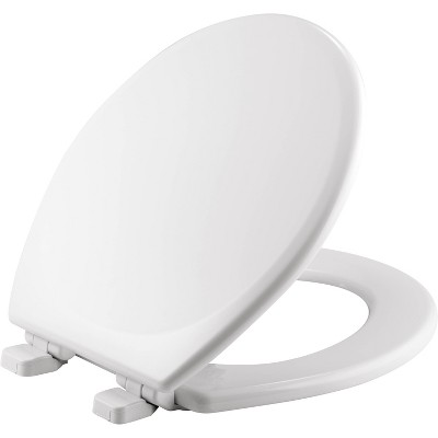 Round Enameled Wood Toilet Seat White - Mayfair by Bemis