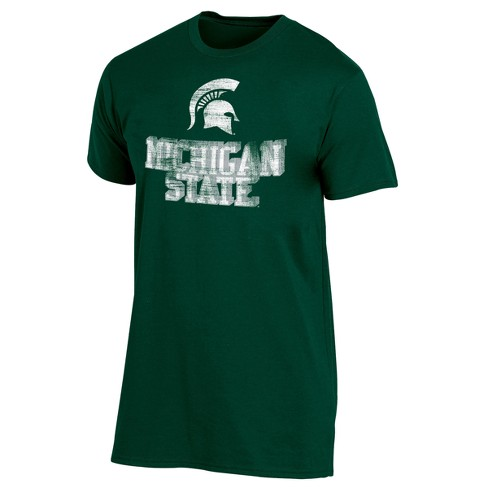 Michigan State Spartans Men's Short Sleeve Keep the Lights On Bi-Blend Gray Heathered T-Shirt - image 1 of 2