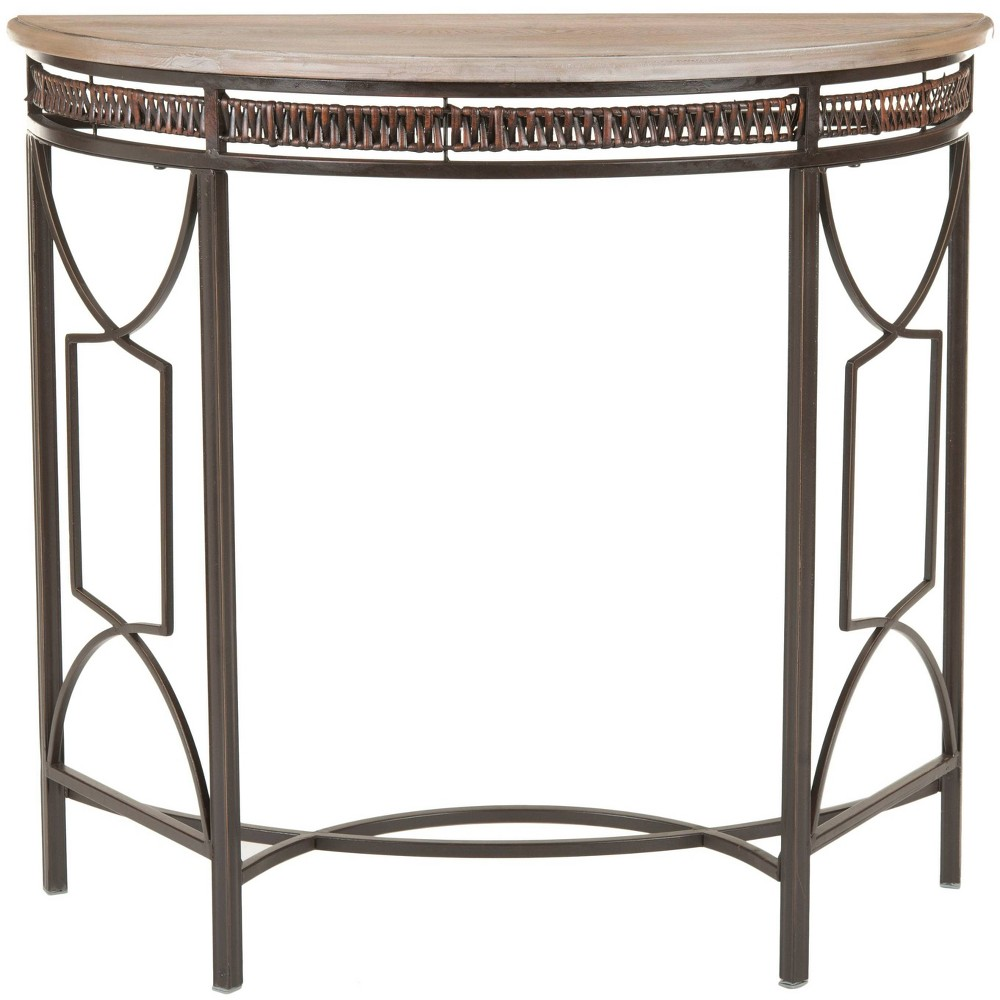 Chatsworth Accent Table Walnut/Oak - Safavieh, Brown