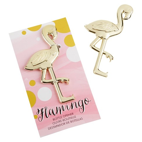 "12ct Kate Aspen ""Fancy and Feathered"" Flamingo Bottle Opener - image 1 of 1"