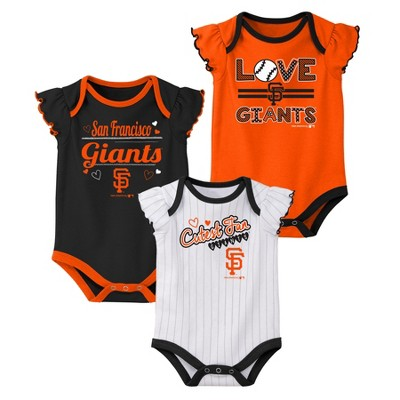 San Francisco Giants Girls' Bodysuit 3pk - 12M