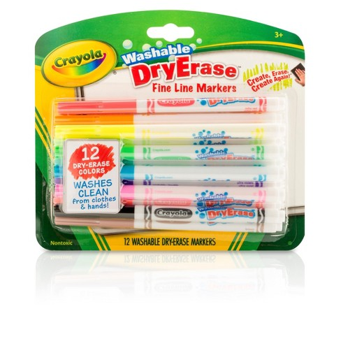Crayola® Dry Erase Markers Fine Line Washable 12ct - image 1 of 3