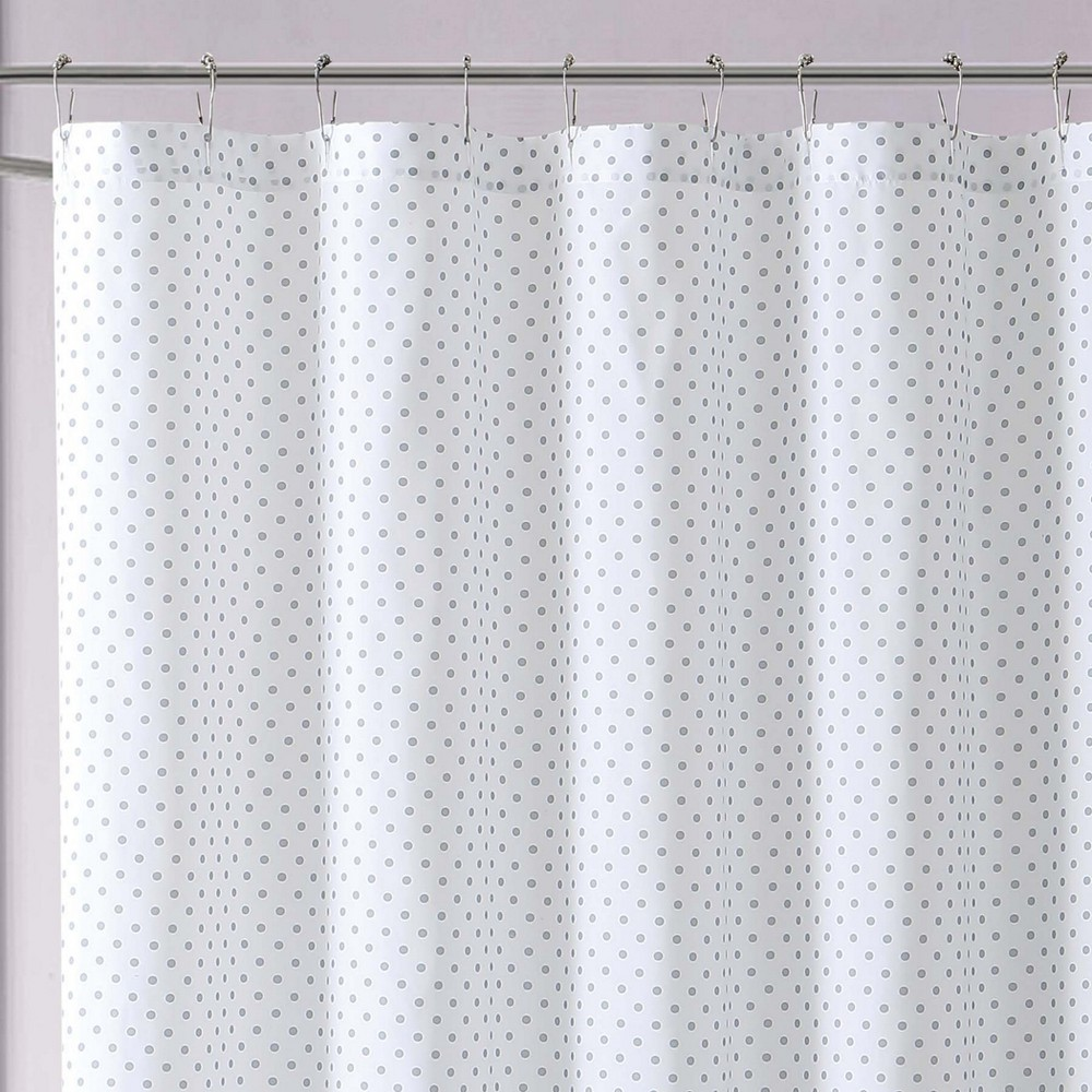 Image of Anytime Dot Shower Curtain Gray - My World
