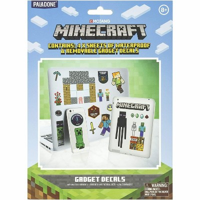 Paladone Products Ltd. Minecraft Gadgets Decal Stickers | 4 Sheets