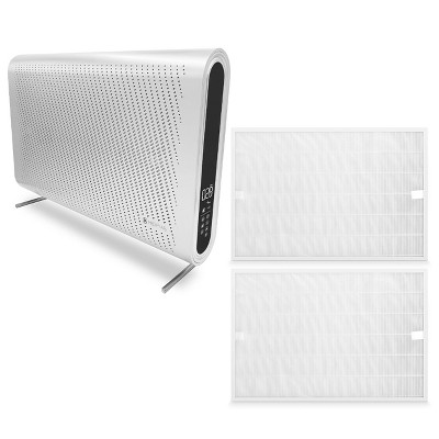 Medify Air MA-35-W1 Medical Grade H13 HEPA White Wall Mounted Air Purifier Bundle with MA-35 Home Air Purifier H13 HEPA Replacement Filters (2 Pack)