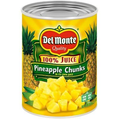 Del Monte Pineapple Chunks in 100% Juice 20oz
