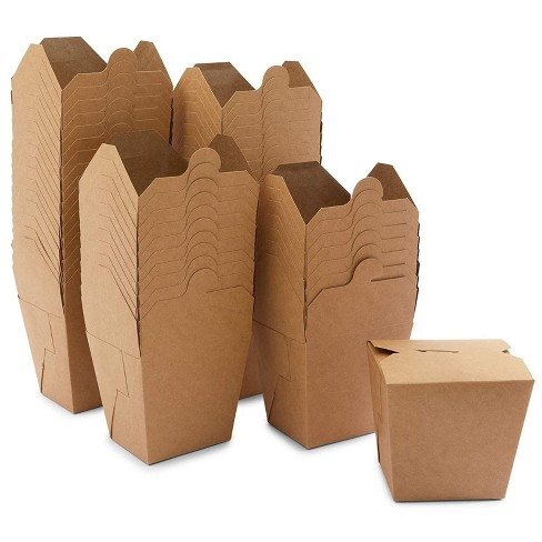 Stockroom Plus 60 Pack Take Out Boxes, Kraft Paper To Go Food Containers (32 oz) - image 1 of 4