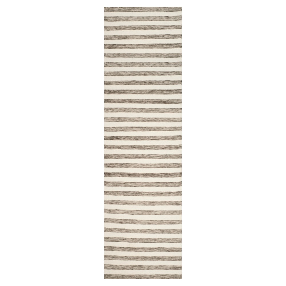 Roland Dhurrie Accent Rug - Brown / Ivory (2'6 X 10') - Safavieh, Brown/Ivory