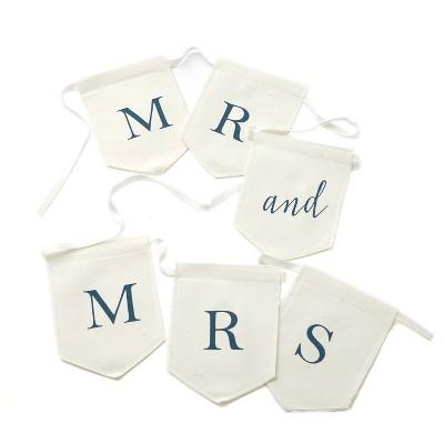 Mr and Mrs Banner Navy/White
