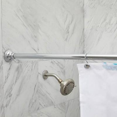Finial Shower Curtain Rod Chrome - Elegant Home Fashions