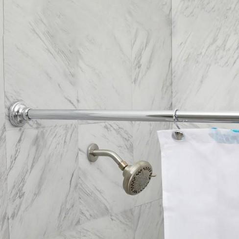 Finial Shower Curtain Rod Chrome - Elegant Home Fashions - image 1 of 1