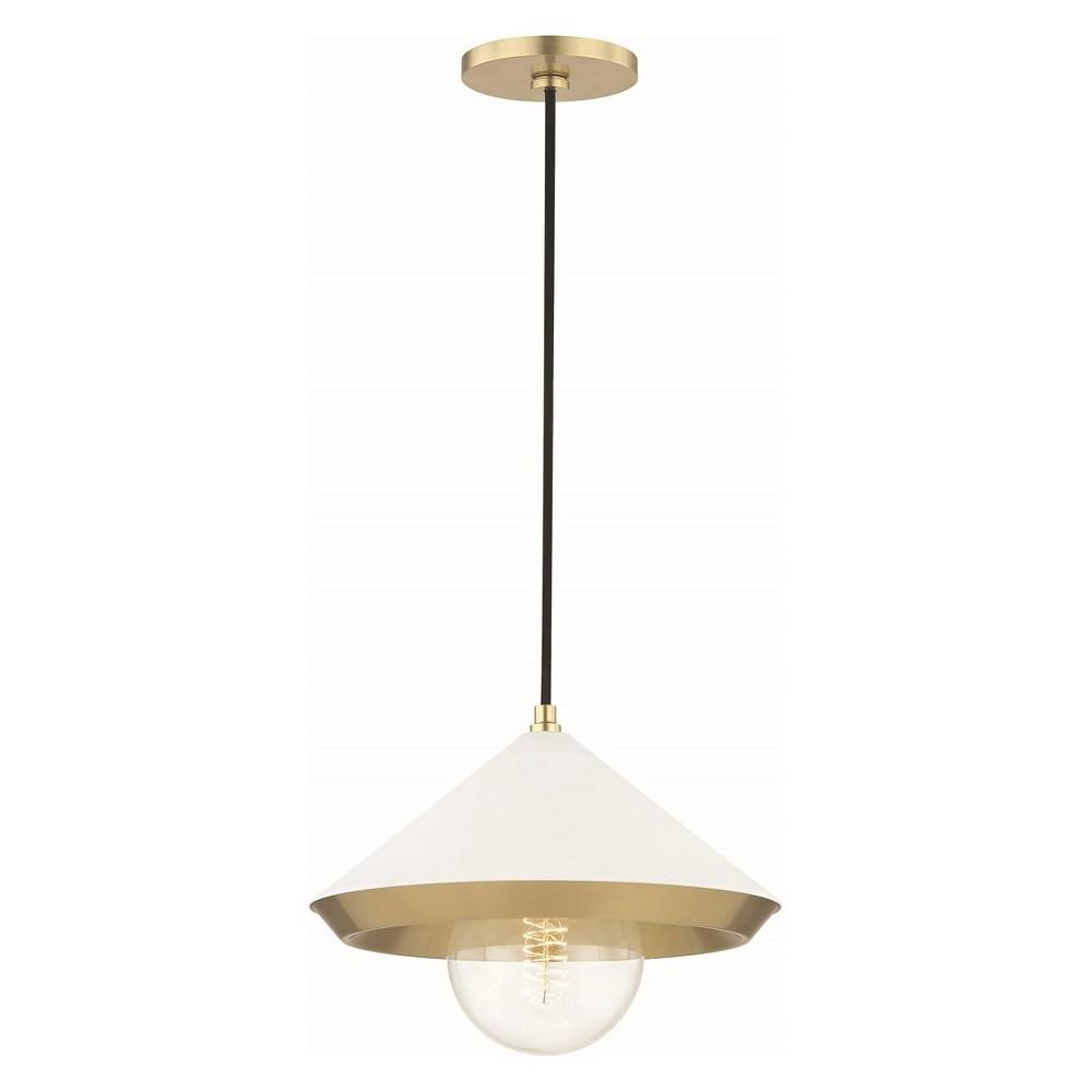 1pc Marnie Large Light Pendant Brass - Mitzi by Hudson Valley