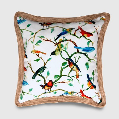 Square Spring Birds Outdoor Pillow - Threshold™